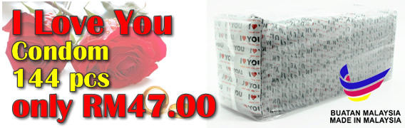 I LOVE YOU Condom 1 Gross only RM47.00