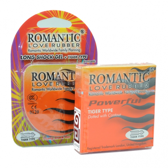Romantic Quick & Easy Long Shock Gel & Tiger Condom - Promotion Pack