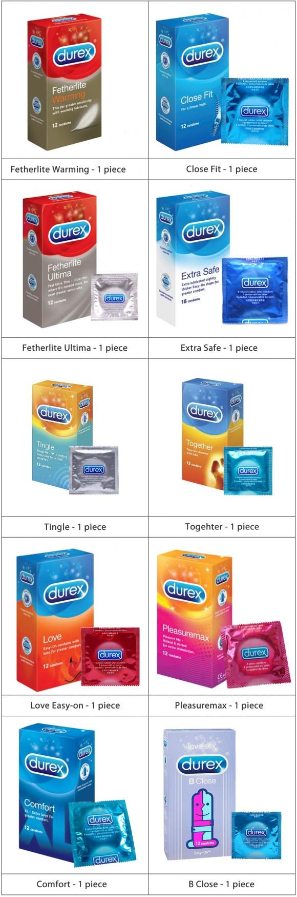 Durex Easy Pack Condom Kondom 10 Pcs Different Type Malaysia Extra Safe