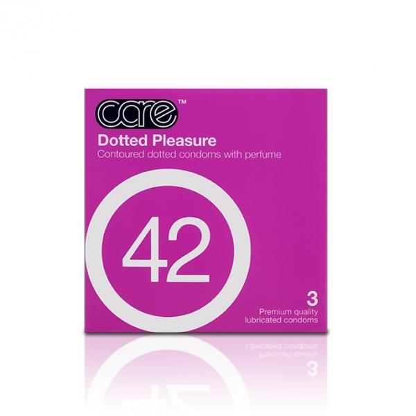 Care 42 Dotted Pleasure Condom / Kondom - 3 pcs