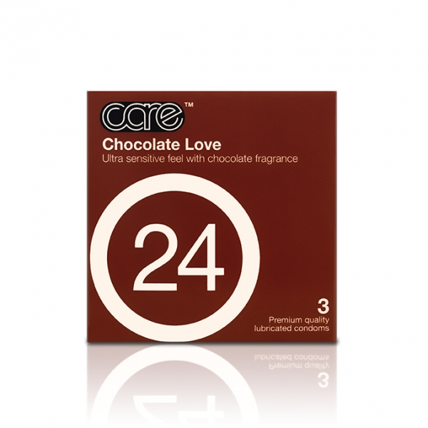 Care 24 Chocolate Love Condom / Kondom - 3 pcs