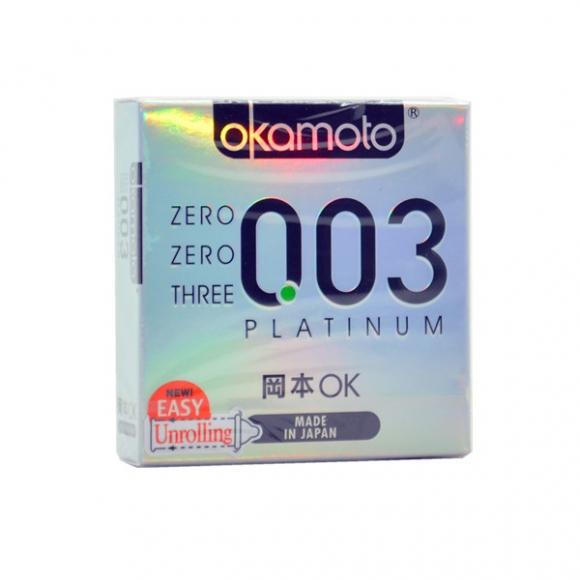 OKAMOTO ZERO ZERO THREE PLATINUM CONDOM 3'S PACK