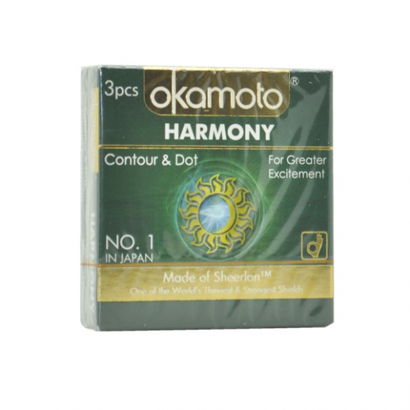 OKAMOTO HARMONY CONTOUR & DOT CONDOM 3'S PACK