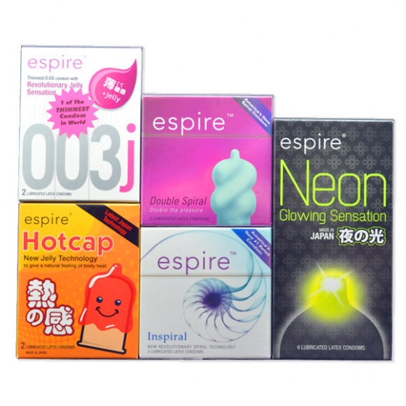 Espire - America's New #1 Rated Condom All in One Package