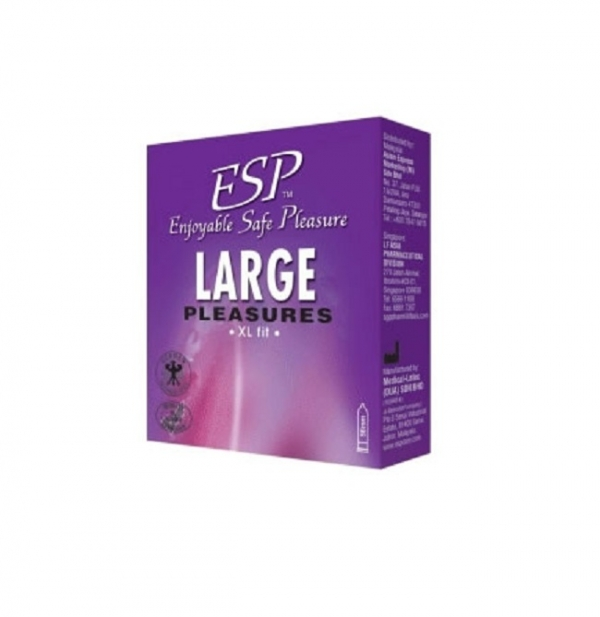 ESP (Enjoyable Safe Pleasure) Condom - Large Pleasures 3pcs