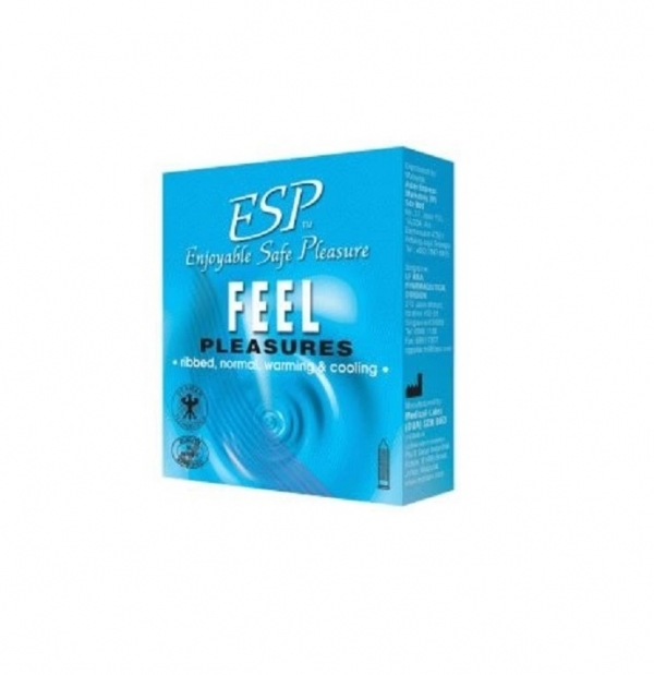 ESP (Enjoyable Safe Pleasure) Condom - Feel Pleasures 3pcs
