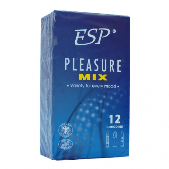 ESP (Enjoyable Safe Pleasure) Condom - Pleasure Mix 12pcs