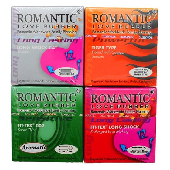 Romantic Love Rubber Quick & Easy 4 in 1 Condom (Kondom)- 8's