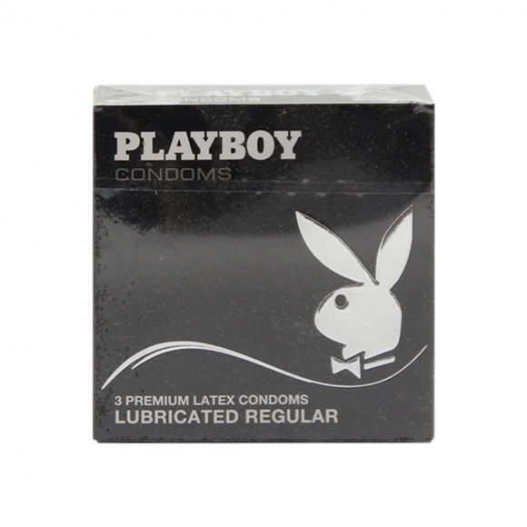 Playboy Lubricated Regular Condoms 3 Pack