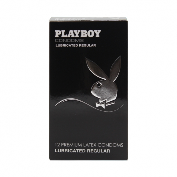 Playboy Lubricated Regular Condoms 12 Pack