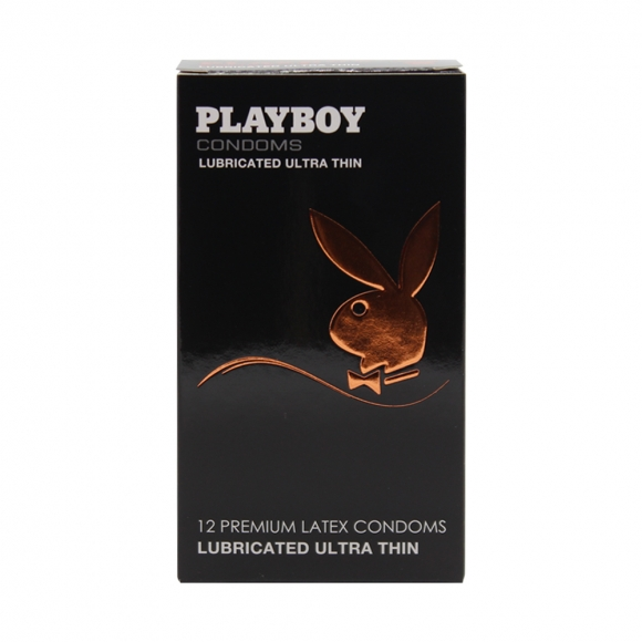 Playboy Condoms  Lubricated Ultra Thin 12 Pack