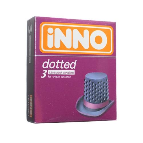 iNNO Dotted Condoms (For Unique Sensation) 3's