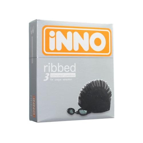 iNNO Ribbed Condoms (For Unique Sensation) 3's