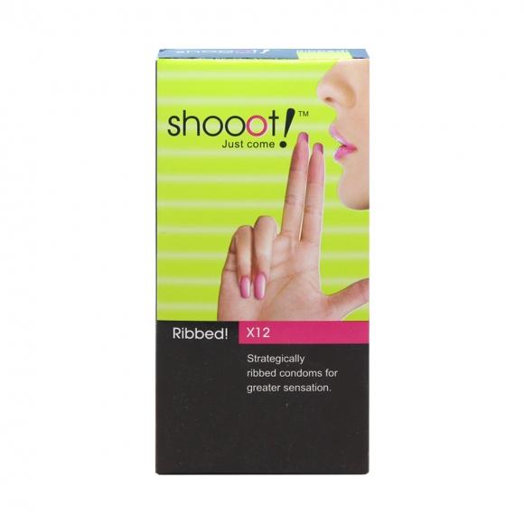 SHOOOT RIBBED Condom / Kondom 12's
