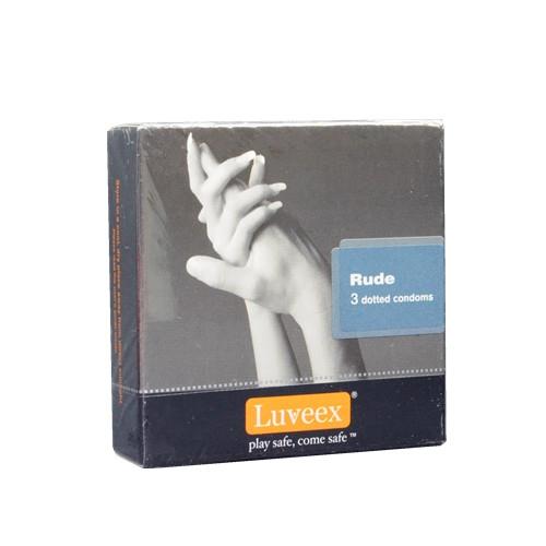 Luveex Rude Dotted condoms 3's