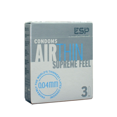 ESP (Enjoyable Safe Pleasure) Condom - Air Thin 3pcs