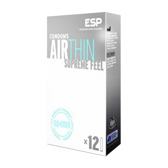 ESP (Enjoyable Safe Pleasure) Condom - Air Thin 12pcs