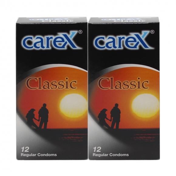 2 Boxes Carex Classic Condoms 12 pcs