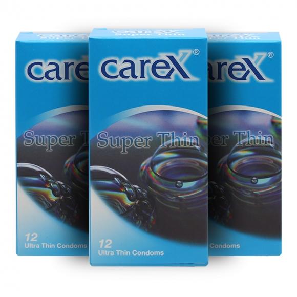 3 Boxes Carex Super Thin Condoms 12 pcs