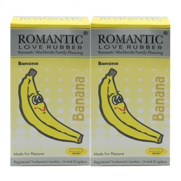 2 Boxes Romantic Love Rubber Aroma - Banana- 12's