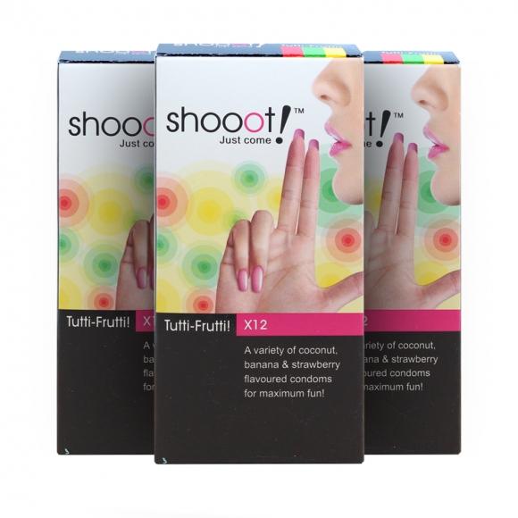 3 Boxes SHOOOT TUTTI-FRUTTI Condom / Kondom 12's