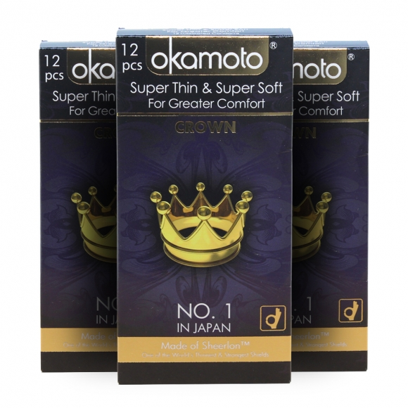 3 Boxes OKAMOTO SUPER THIN & SOFT- CROWN 12'S Pack