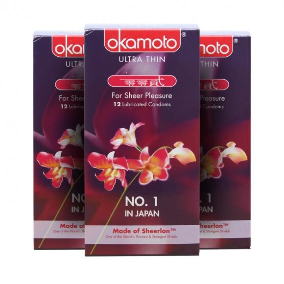 3 Boxes OKAMOTO ORCHID CONDOM 12's