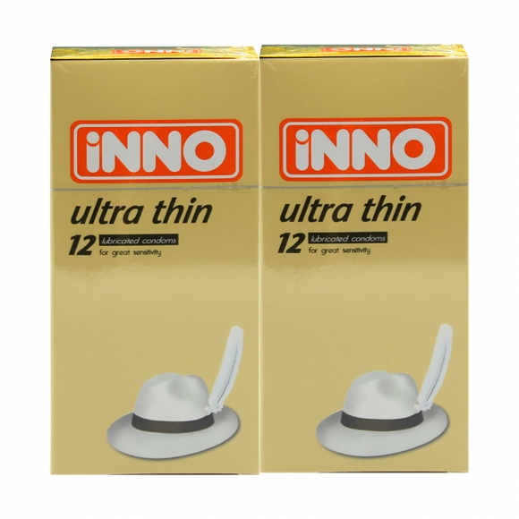 2 Boxes iNNO Ultra Thin Condom / Kondom 12 pcs (For Great Sensitivity)