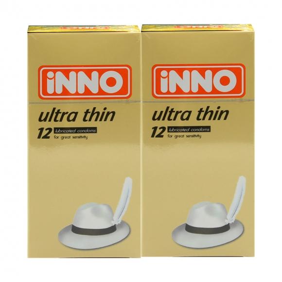 2 Boxes iNNO Ultra Thin Condom / Kondom 12 pcs (For Great Sensitivity)