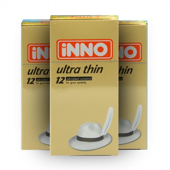 3 Boxes iNNO Ultra Thin Condom / Kondom 12 pcs (For Great Sensitivity)