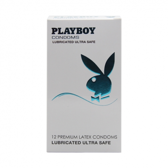 Playboy Lubricated Ultra Safe Condom / Kondom - 12pcs