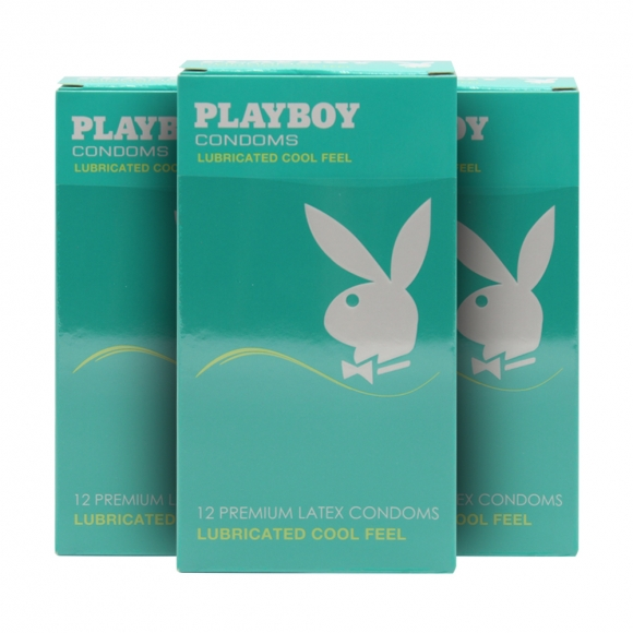 3 Boxes Playboy Lubricated Cool Feels Condom / Kondom 12 Pack