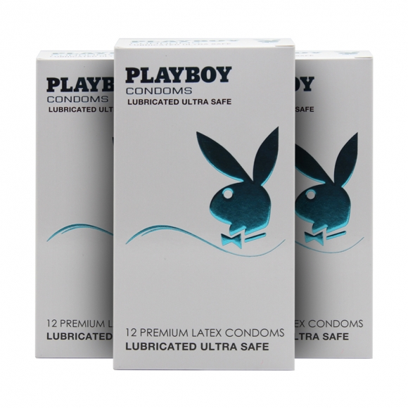 3 Boxes Playboy Lubricated Ultra Safe Condom / Kondom  12 Pack