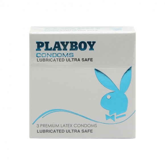 Playboy Lubricated Ultra Safe Condom / Kondom - 3pcs