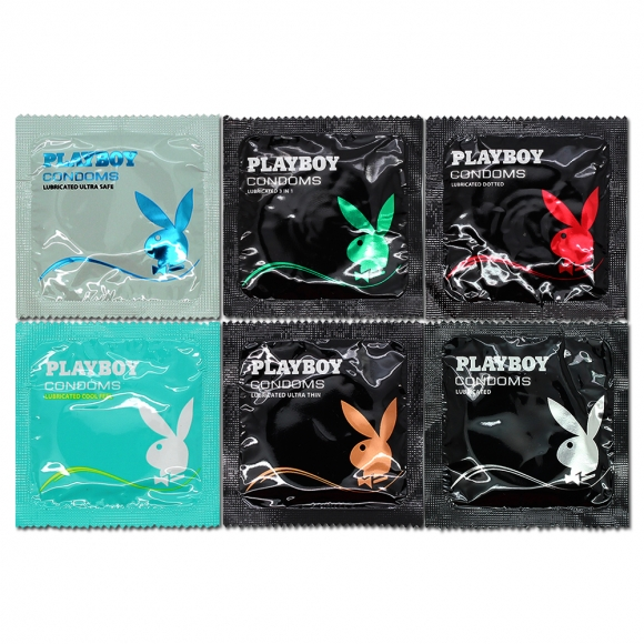 Playboy  Easy Pack Condom / Kondom 6 pcs, 6 different Type