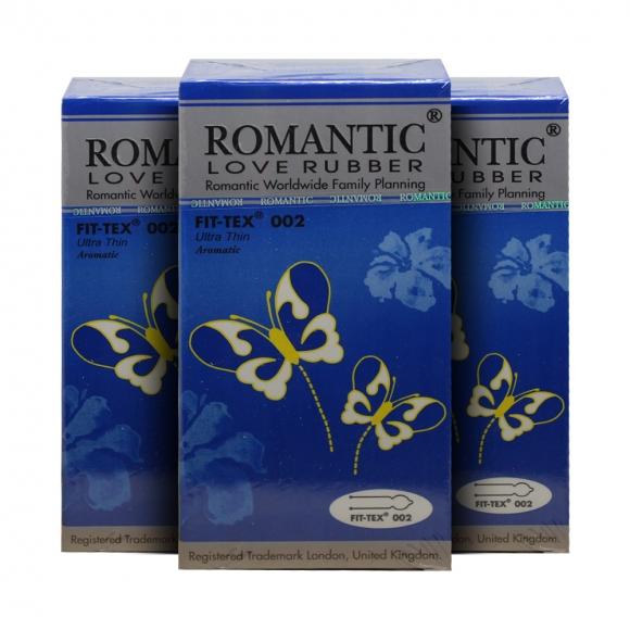 3 Boxes Romantic Love Rubber Fit Tex 002 - 12's