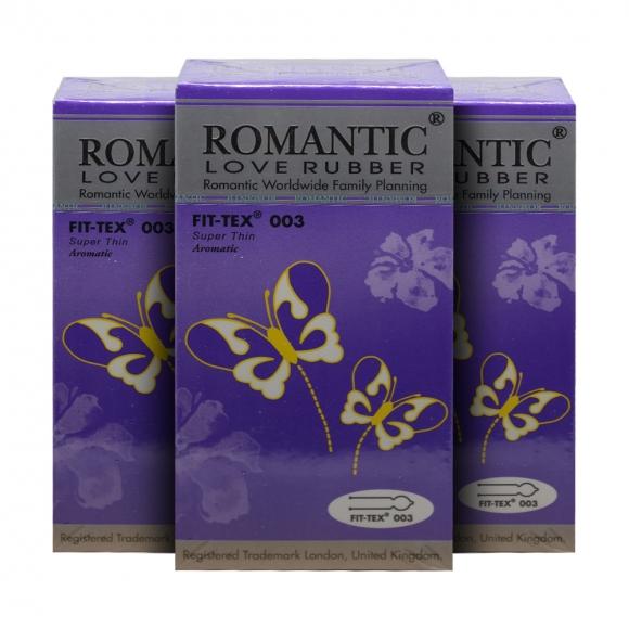 3 Boxes Romantic Love Rubber Fit Tex 003 - 12's