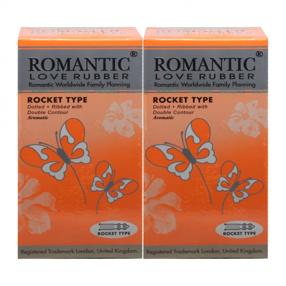 2 Boxes Romantic Love Rubber Rocket Type - 12's