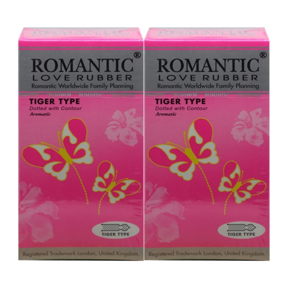 2 boxes Romantic Love Rubber Tiger Type - 12's