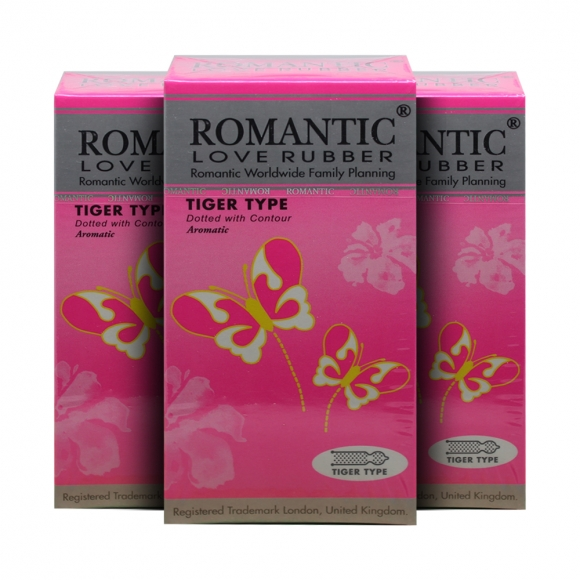 3 boxes Romantic Love Rubber Tiger Type - 12's