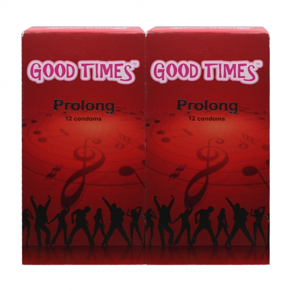 2 Boxes Good Times Prolong condom - 12's
