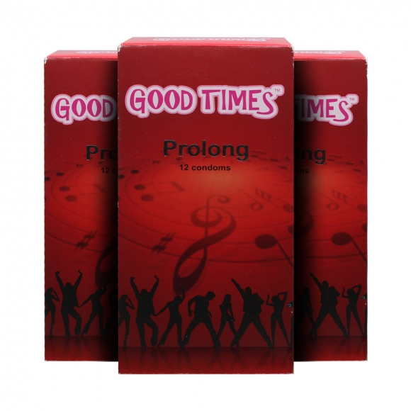 3 Boxes Good Times Prolong condom - 12's