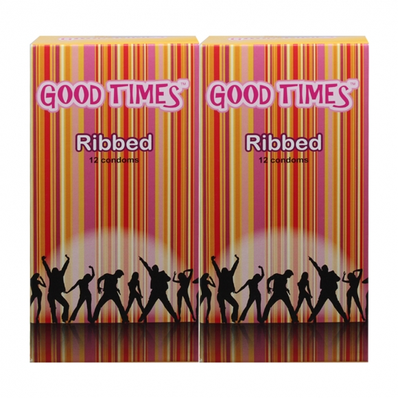 2 Boxes Good Times Ribbed condom - 12's