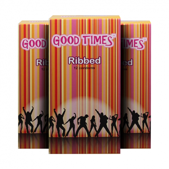 3 Boxes Good Times Ribbed condom - 12's