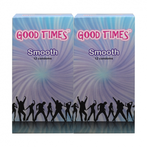 2 Boxes Good Times Smooth condom - 12's