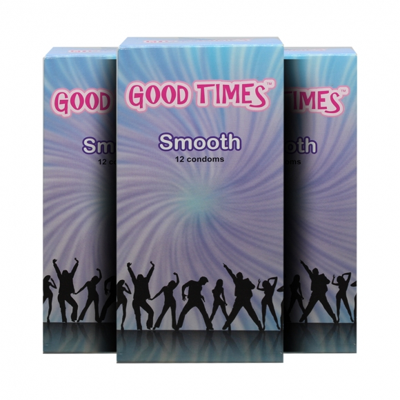 3 Boxes  Good Times Smooth condom - 12's