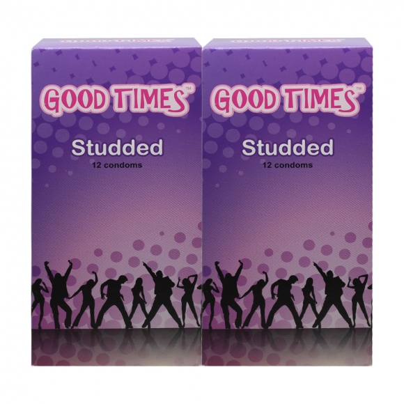 2 Boxes Good Times Studded condom - 12's