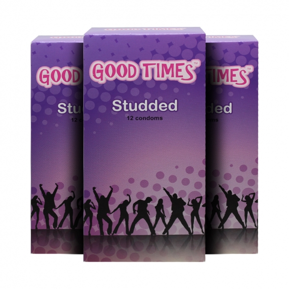3 Boxes Good Times Studded condom - 12's