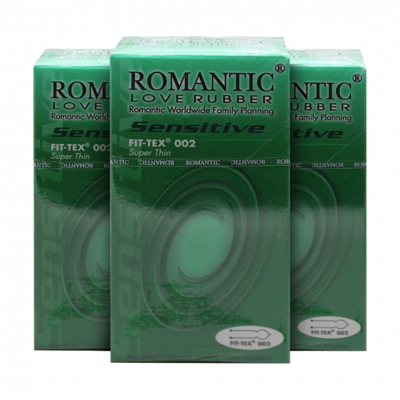 3 Boxes Romantic Love Rubber Quick & Easy Fit Tex 002 - 10's