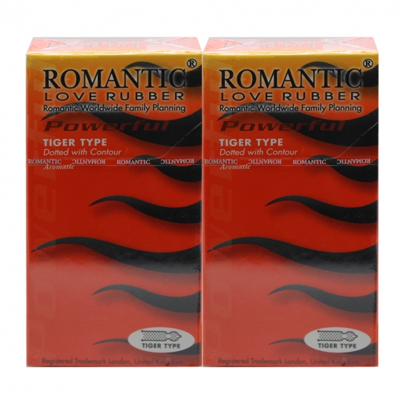 2 Boxes Romantic Love Rubber Quick & Easy Tiger Type - 10's